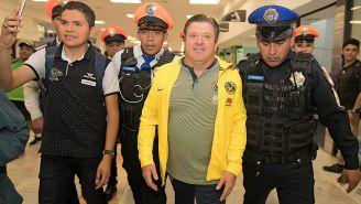 Miguel Herrera a su llegada a la CDMX