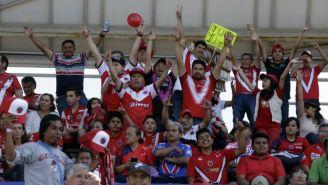 Aficionados de Veracruz en las gradas del Estadio Olímpico de la BUAP