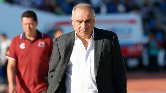 Guillermo Vázquez, durante el juego entre Lobos y Veracruz