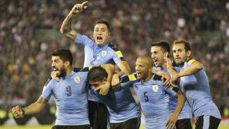Selección uruguaya celebra anotación