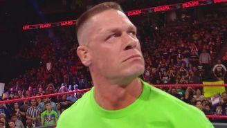 John Cena durante su segmento en RAW