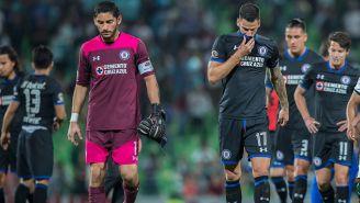 Jugadores de Cruz Azul se lamentan tras derrota contra Santos