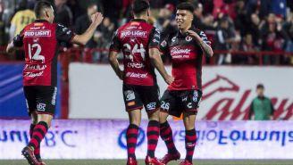 Tijuana celebra gol de Luis Mendoza frente a Lobos BUAP