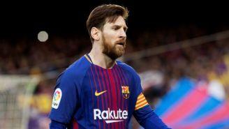 Messi, durante el juego entre Barcelona y el Atlético de Madrid
