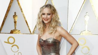 Jennifer Lawrence, en la ceremonia del Oscar 2018