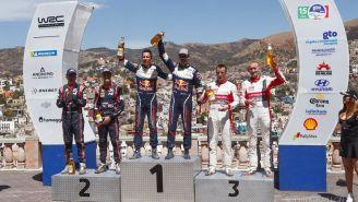Sébastien Ogier en lo más alto del podio del Rally Guanajuato