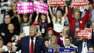 Donald Trump, durante una campaña en Township, Pensilvania