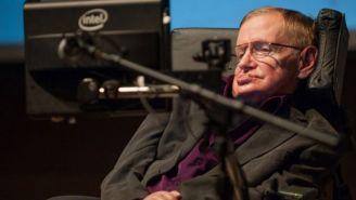 Stephen Hawking durante un evento científico