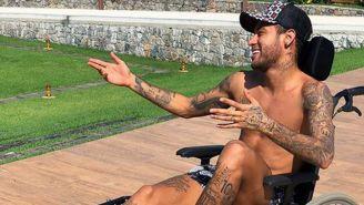 Neymar, en su controversial foto
