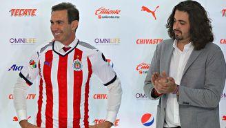 Francisco Gabriel de Anda en su presentación con Chivas