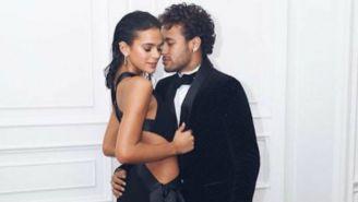 Neymar y Bruna Marquezine durante un evento