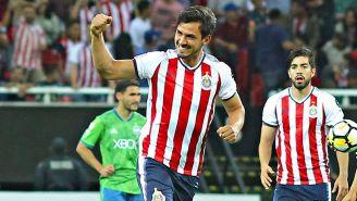 Alanís celebra su gol contra Seattle Sounders en Concachampions