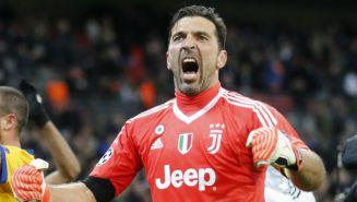Buffon celebra el triunfo de Juventus en Champions