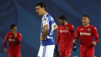 Álvaro Odriozola, en lamento tras un gol del Getafe