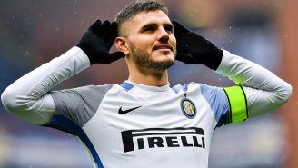 Icardi celebra una anotación con Inter en Serie A