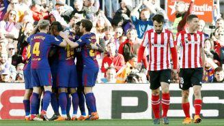Barcelona celebra la notación de Athletic de Bilbao