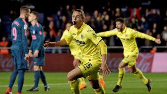 Enes Unal celebra su gol contra el Atlético de Madrid