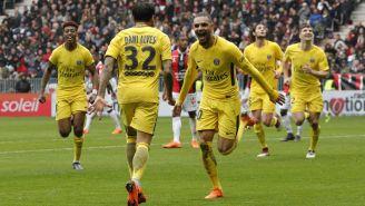 PSG en festejo tras anotar frente al Niza