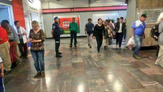 Seguridad vigila las estaciones del Metro de la CDMX