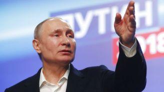 Vladimir Putin durante su campaña presidencial