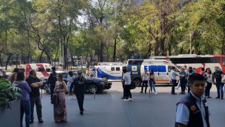 Autoridades presentes en Reforma 222 tras el incidente