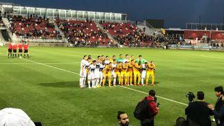 Pumas y Tigres antes del partido amistoso