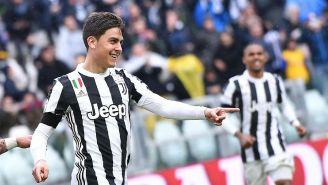 Dybala celebra un gol con la Juventus en la Serie A