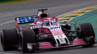 Checo Pérez durante el GP de Australia