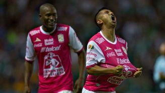 Elías Hernández en festejo de gol frente a Tigres en el A2017
