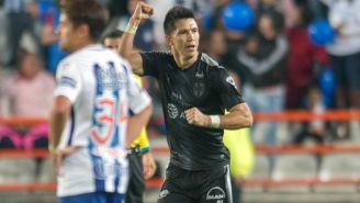 Molina celebra su gol frente a Tuzos