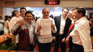 Blanco, tras su registró como candidato a gobierno de Morelos