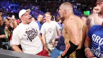 Rob Gronkowski y Mojo Rawley aparecen Smackdown Live