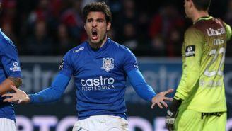 Antonio Briseño, durante un juego con el Feirense