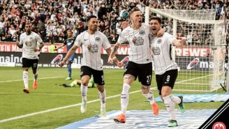 Luka Jovi festeja su gol contra el Hoffenheim