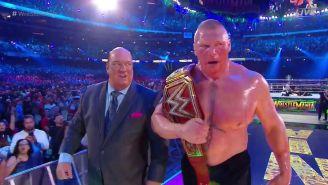 Brock Lesnar se va con el título Universal