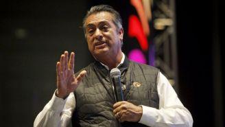 Jaime Rodríguez 'El Bronco' habla en un evento público