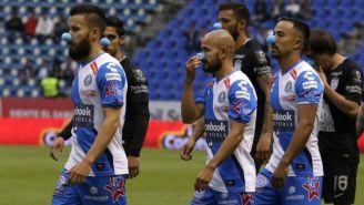 Jugadores de Puebla, previo al duelo contra Tuzos del C2018