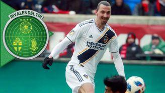 Zlatan Ibrahimovic, en el juego entre Galaxy y Chicago Fire