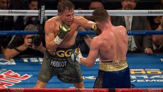 'GGG' y Canelo intercambian golpes en pelea