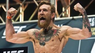 Conor McGregor en un pesaje