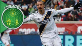 Zlatan celebra una anotación con el Galaxy