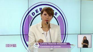Lorena Osornio durante el debate
