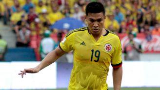 Gutiérrez en un partido de Colombia