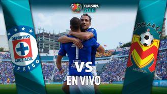 Cauteruccio celebra su gol en el Azul