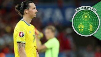 Zlatan Ibrahimovic, en un juego de Suecia en la Eurocopa 2016