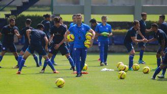 Jugadores del Cruz Azul durante un entrenamiento