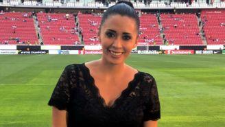 María Fernanda, en el Estadio Akron