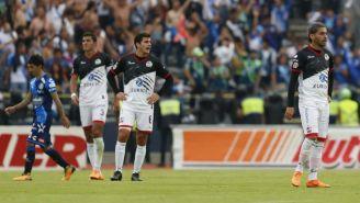 Jugadores de Lobos en el duelo contra Puebla del C2018