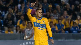 Ismael Sosa, durante un duelo de Tigres en Concachampions