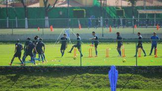 Cruz Azul en una sesión de entrenamiento